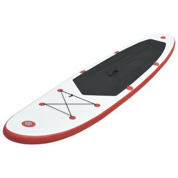 vidaXL Daska na napuhavanje za veslanje stojeći crveno-bijela