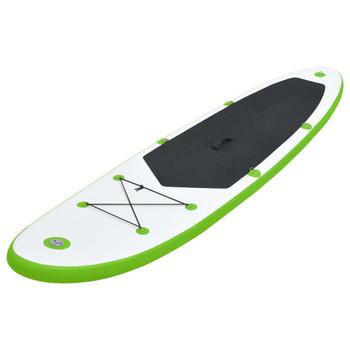 vidaXL Set daske za veslanje stojeći na napuhavanje zeleno-bijeli