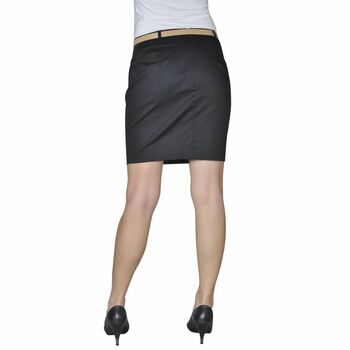 Crna mini suknja s remenom, 36