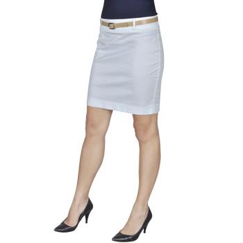 Bijela mini suknja s remenom, 36