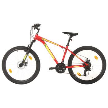 """vidaXL Brdski bicikl 21 brzina kotači od 27,5 """" okvir od 38 cm crveni"""
