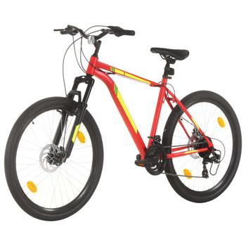 """vidaXL Brdski bicikl 21 brzina kotači od 27,5 """" okvir od 42 cm crveni"""