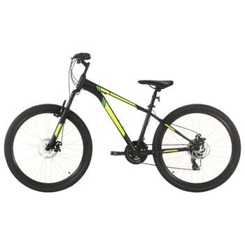 """vidaXL Brdski bicikl 21 brzina kotači od 27,5 """" okvir od 38 cm crni"""