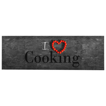 vidaXL Kuhinjski tepih s natpisom Cooking perivi 60 x 300 cm