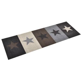 vidaXL Kuhinjski tepih s uzorkom zvijezda perivi 45 x 150 cm
