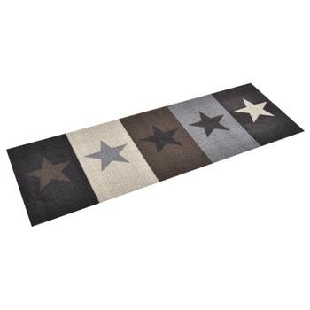 vidaXL Kuhinjski tepih s uzorkom zvijezda perivi 60 x 300 cm