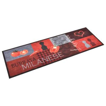 vidaXL Kuhinjski tepih s uzorkom rajčica perivi 60 x 180 cm