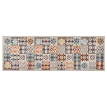 vidaXL Kuhinjski tepih sa šarenim mozaikom perivi 60 x 180 cm