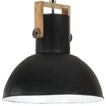 vidaXL Industrijska viseća svjetiljka 25 W crna okrugla 52 cm E27