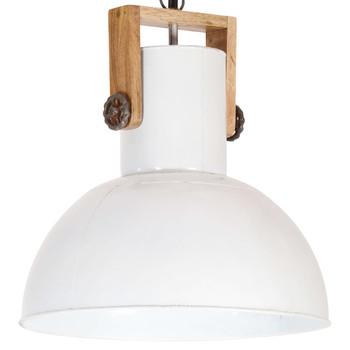 vidaXL Industrijska viseća svjetiljka 25 W bijela okrugla 42 cm E27