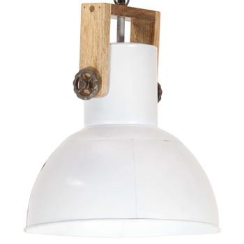 vidaXL Industrijska viseća svjetiljka 25 W bijela okrugla 32 cm E27