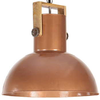 vidaXL Industrijska viseća svjetiljka 25 W bakrena okrugla 52 cm E27