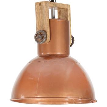 vidaXL Industrijska viseća svjetiljka 25 W bakrena okrugla 42 cm E27