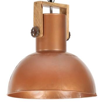 vidaXL Industrijska viseća svjetiljka 25 W bakrena okrugla 32 cm E27