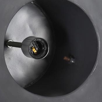 vidaXL Industrijska viseća svjetiljka 25 W siva okrugla 52 cm E27