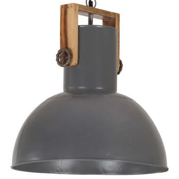 vidaXL Industrijska viseća svjetiljka 25 W siva okrugla 42 cm E27