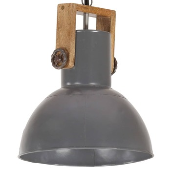 vidaXL Industrijska viseća svjetiljka 25 W siva okrugla 32 cm E27