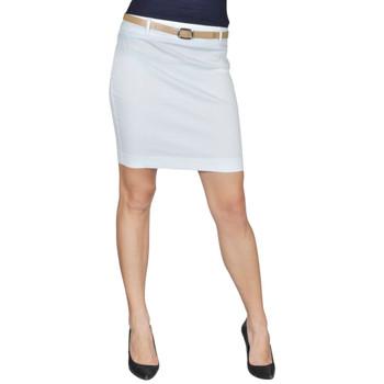 Bijela mini suknja s remenom, 34