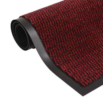 vidaXL Otirač za Zadržavanje Prašine Pravokutni  80x120 cm Crveni