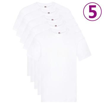 Fruit of the Loom originalne majice 5 kom bijele XL pamučne