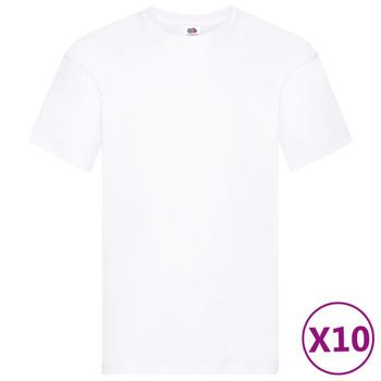 Fruit of the Loom originalne majice 10 kom bijele 4XL pamučne