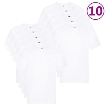 Fruit of the Loom originalne majice 10 kom bijele 5XL pamučne