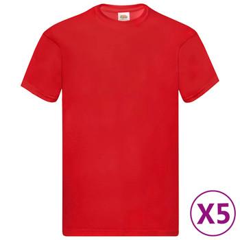 Fruit of the Loom originalne majice 5 kom crvene XXL pamučne
