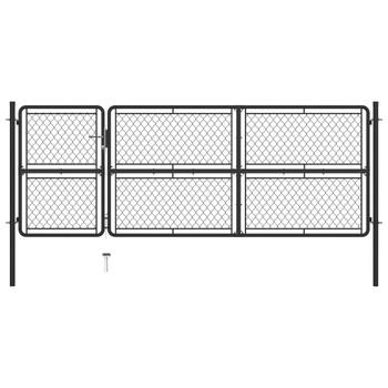 vidaXL Vrtna vrata čelična 125 x 350 cm antracit