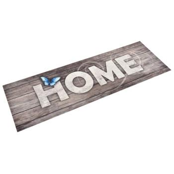 vidaXL Kuhinjski tepih s natpisom Home perivi 60 x 300 cm
