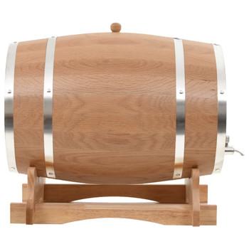 vidaXL Bačva za vino sa slavinom od masivne hrastovine 35 l