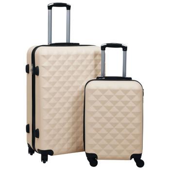 vidaXL 2-dijelni set čvrstih kovčega zlatni ABS