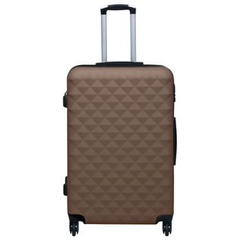 vidaXL 2-dijelni set čvrstih kovčega smeđi ABS