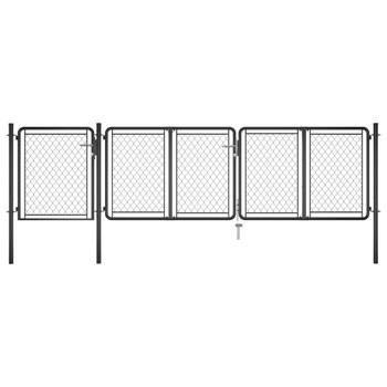 vidaXL Vrtna vrata čelična 100 x 395 cm antracit