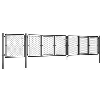 vidaXL Vrtna vrata čelična 100 x 495 cm antracit