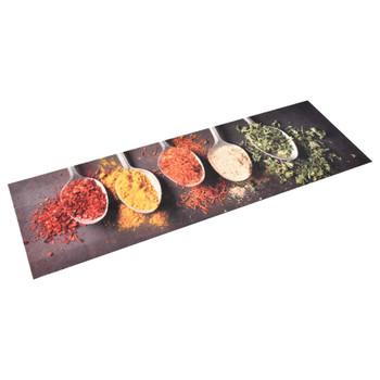 vidaXL Kuhinjski tepih s uzorkom žlica perivi 60 x 300 cm
