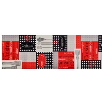 vidaXL Kuhinjski tepih s natpisom Cuisine perivi 60 x 300 cm