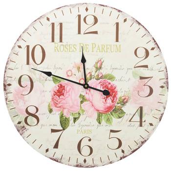 vidaXL Starinski zidni sat s cvjetnim uzorkom 60 cm