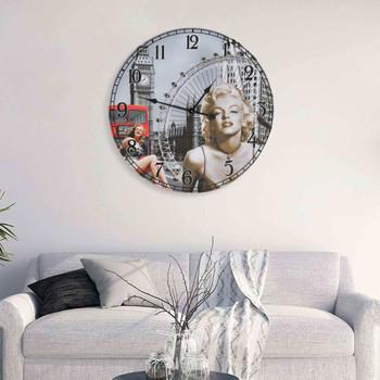 vidaXL Starinski zidni sat sa slikom Marilyn Monroe 60 cm