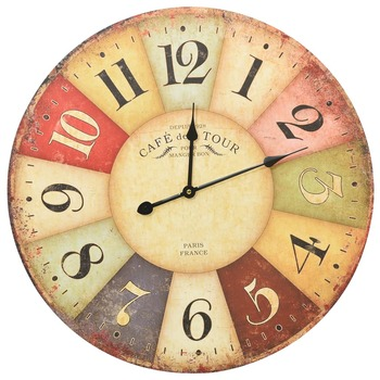 vidaXL Starinski zidni sat šareni 60 cm