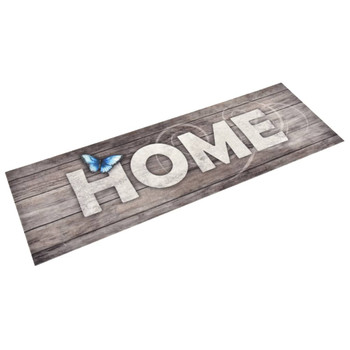 vidaXL Kuhinjski tepih s natpisom Home perivi 60 x 180 cm