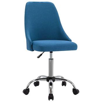 vidaXL Uredske stolice od tkanine s kotačima 2 kom plave