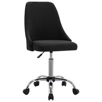 vidaXL Uredske stolice od tkanine s kotačima 2 kom crne
