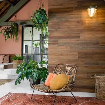 WallArt zidne obloge s izgledom prirodne hrastovine crvenkasto smeđe