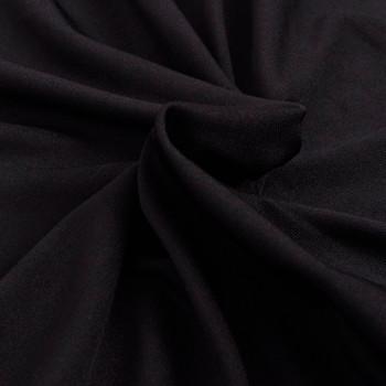 Rastezljiva Presvlaka za Kauč Crna Poliesterski žersej