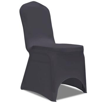 Rastezljive navlake za stolice 6 kom Antracit boja