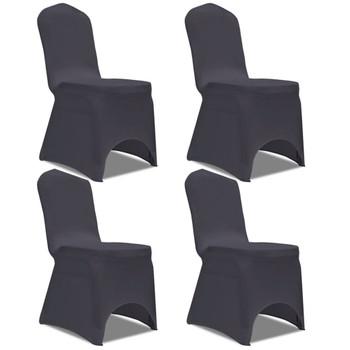 Rastezljive navlake za stolice 4 kom Antracit boja