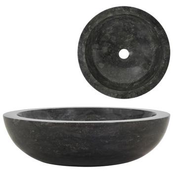 Umivaonik 40 x 12 cm mramorni crni