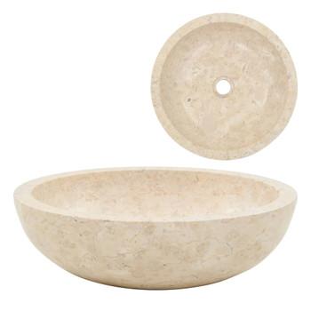 Umivaonik 40 x 12 cm mramorni krem