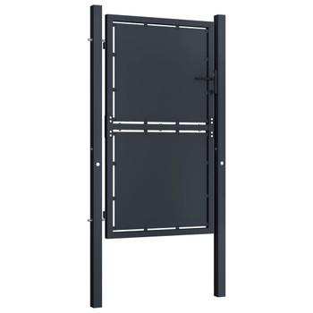 Vrtna vrata čelična 100 x 175 cm antracit