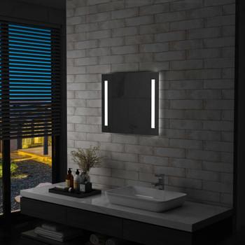 Kupaonsko LED zidno ogledalo 60 x 50 cm